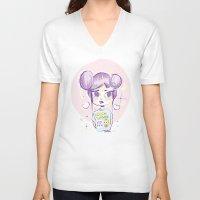 homer V-neck T-shirts featuring Homer Tshirt by puropopo - プロポポ