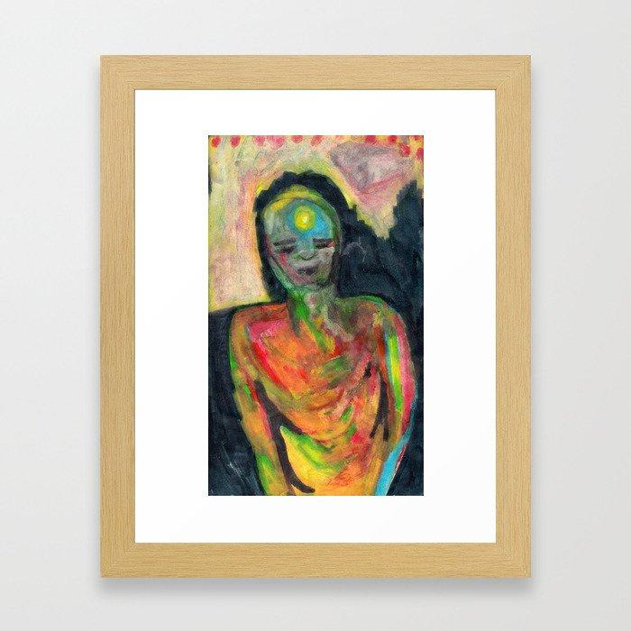 Spirit/Figure Framed Art Print