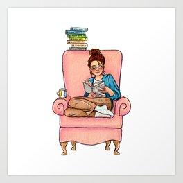 Reading fictional characters: Cath Art Print