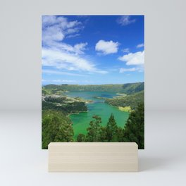 Lakes in Azores Mini Art Print