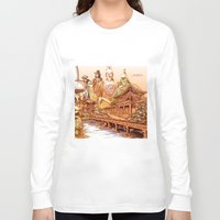 korean Long Sleeve T-shirts featuring Korean Travels by Lundy