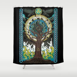 Ode to Odin Shower Curtain