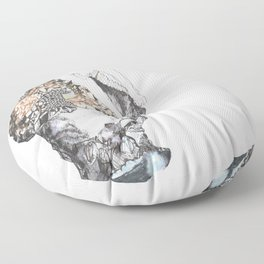 untitled (from the stone maiden series) Floor Pillow