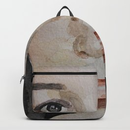 Watercolor painting, portrait beautiful girl Backpack
