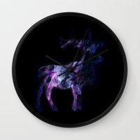 elk Wall Clocks featuring ELK  by Nabeel