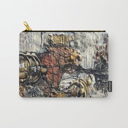 Metallic Melodrama III - Mixed Media Beeswax Encaustic Acrylic Abstract Modern Fine Art, 2015 Carry-All Pouch