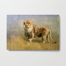 Serengeti King Metal Print