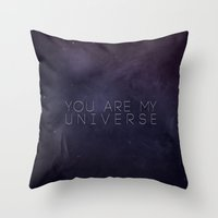 universe Throw Pillows featuring Universe by Leah Flores