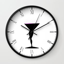 Sexy Champagne Glass Wall Clock