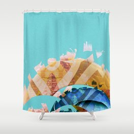 Forces of Peace Abstract Landscape No. 1 Shower Curtain