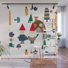 Gnome white Wall Mural