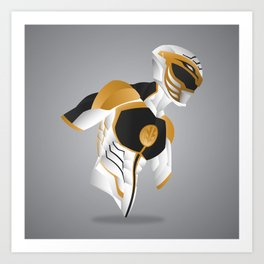 White Tiger Ranger - Redux Art Print