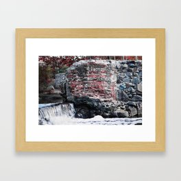 Mission Dam in the Fall Framed Art Print