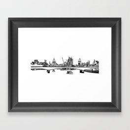 London Black and White Framed Art Print