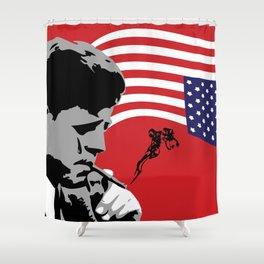 Star Spangled Assassination - JFK Shower Curtain