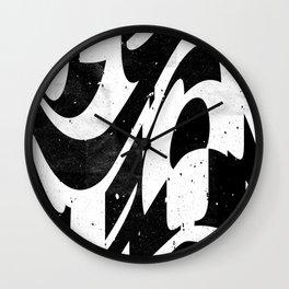 Experimantal typography Wall Clock