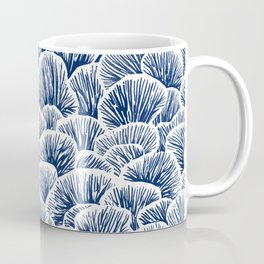 Mushroom Pattern - Dark Blue Coffee Mug