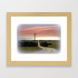 Road to Jervis Bay Framed Art Print