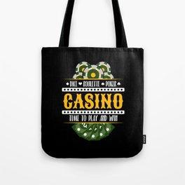 Casino Gambling Roulette Poker Risk Tote Bag