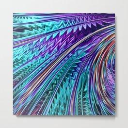 Jewel Rainbow Fractal Art Metal Print