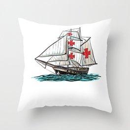 Native American Day Anti Columbus Day  Throw Pillow