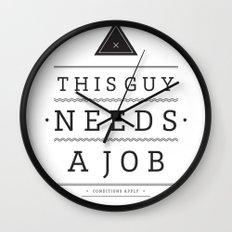 Need a Job Wall Clock