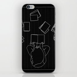 Avid book lover iPhone Skin