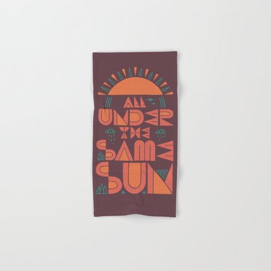 All Under the Same Sun Hand & Bath Towel