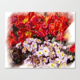 Flowers in town Canvas Print