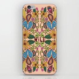 Bohemian Floral Peach version iPhone Skin