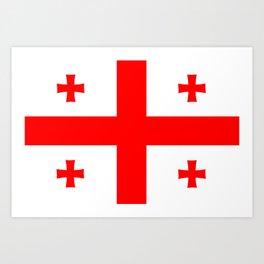 Georgia country flag Art Print