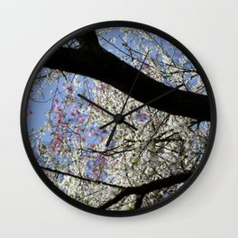Blossem Tree in Spring in Keukenhof - Garden Photography in Holland - Floral - Colorful Wall Art  Wall Clock