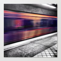 subway Canvas Prints featuring Subway by Yancey Wells