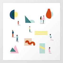 Fridays at the Art Gallery Art Print