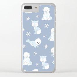 ARCTIC FRIENDS (blue) Clear iPhone Case