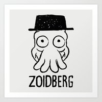 zoidberg Art Prints featuring Zoidberg by le.duc