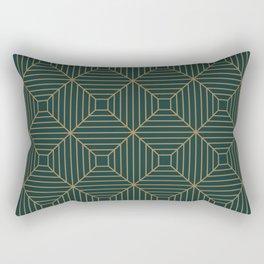 Green Velvet Tile Rectangular Pillow