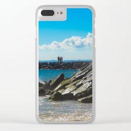 Caparica Beach Portugal Clear iPhone Case