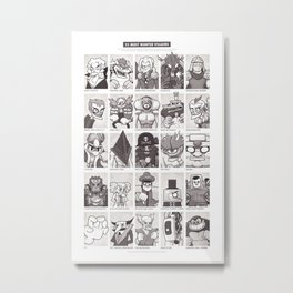 25 Most Wanted Villains! Metal Print