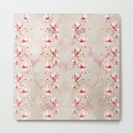 Trailing Pink Magnolias Metal Print