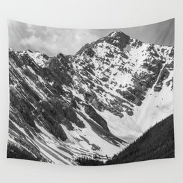 Black and White Canadian Rockies Wall Tapestry