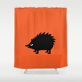 Angry Animals: hedgehog Shower Curtain