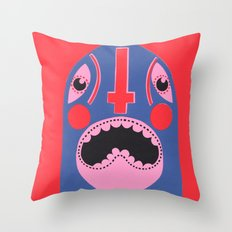 The Mad Lucha Throw Pillow