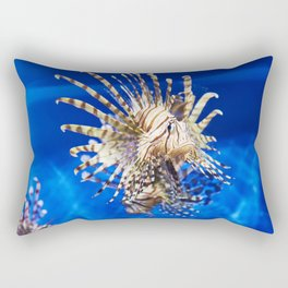 Poisonous lionfish in blue water sea Rectangular Pillow