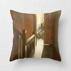 Across the Hall Throw Pillow
