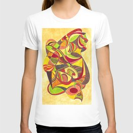 waves in warm colors T-shirt