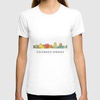 colorado T-shirts featuring Colorado Springs Colorado Skyline by Marlene Watson