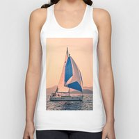 racing Tank Tops featuring  Yacht racing by Svetlana Korneliuk