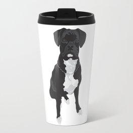 The Black & White Boxer Travel Mug
