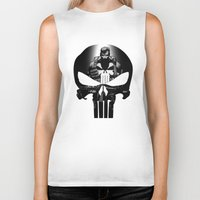 punisher Biker Tanks featuring The Punisher by dTydlacka